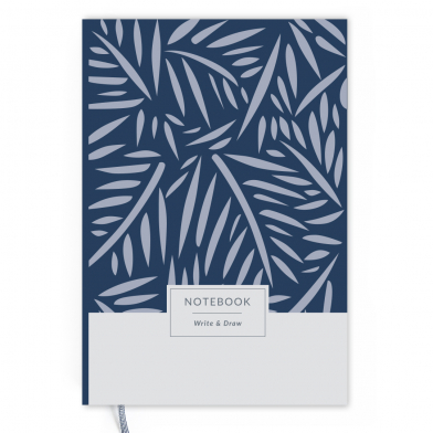 Блокнот Write&Draw Blue Leaves