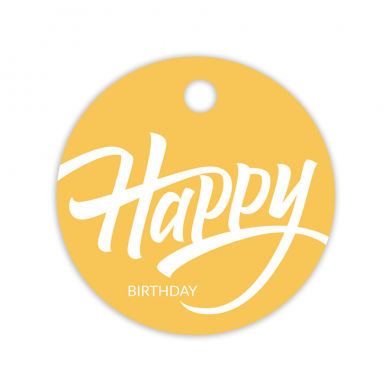 Gift tag Happy Birthday
