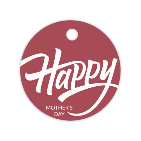 Gift tag Happy Mother's Day