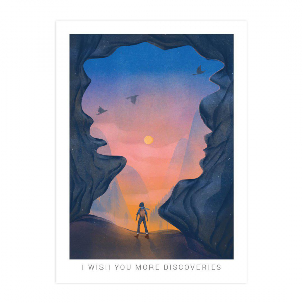 Листівка I WISH YOU MORE DISCOVERIES