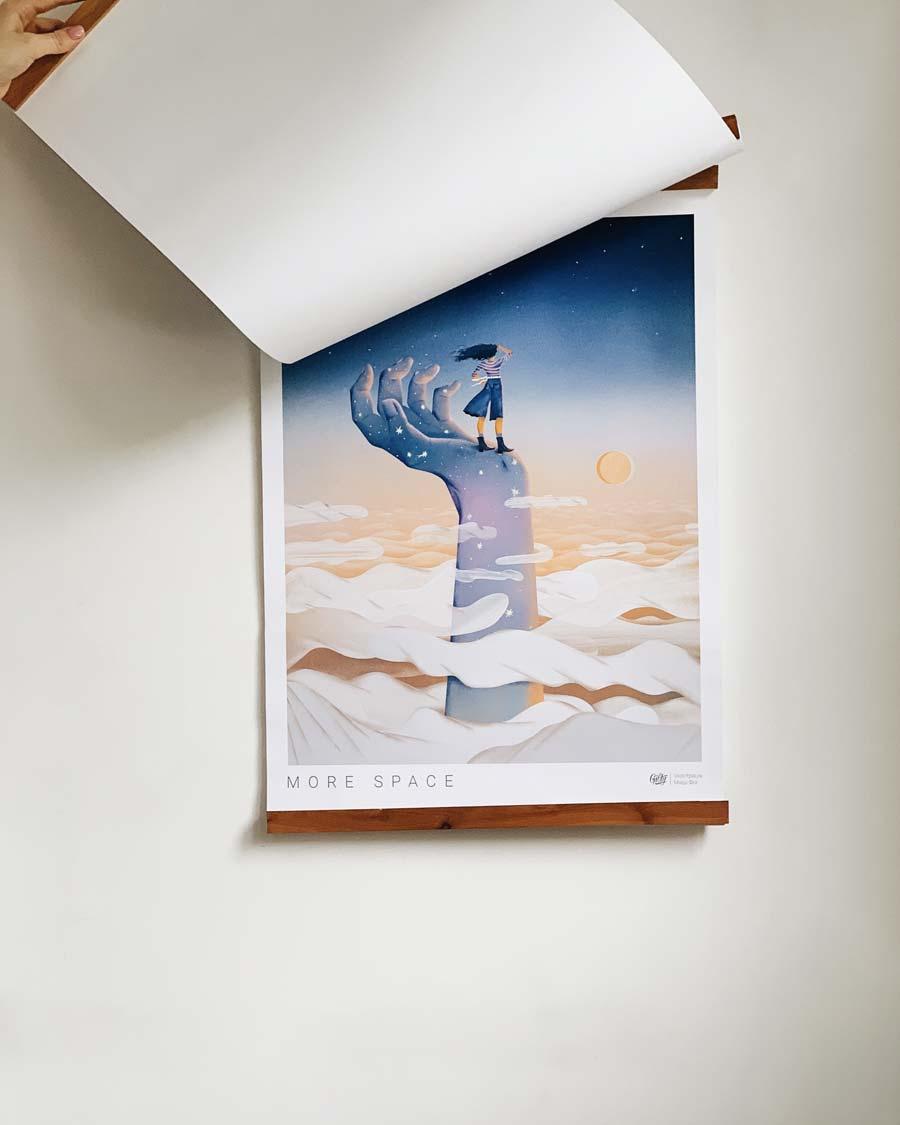 Постер настенный с креплением Больше пространства